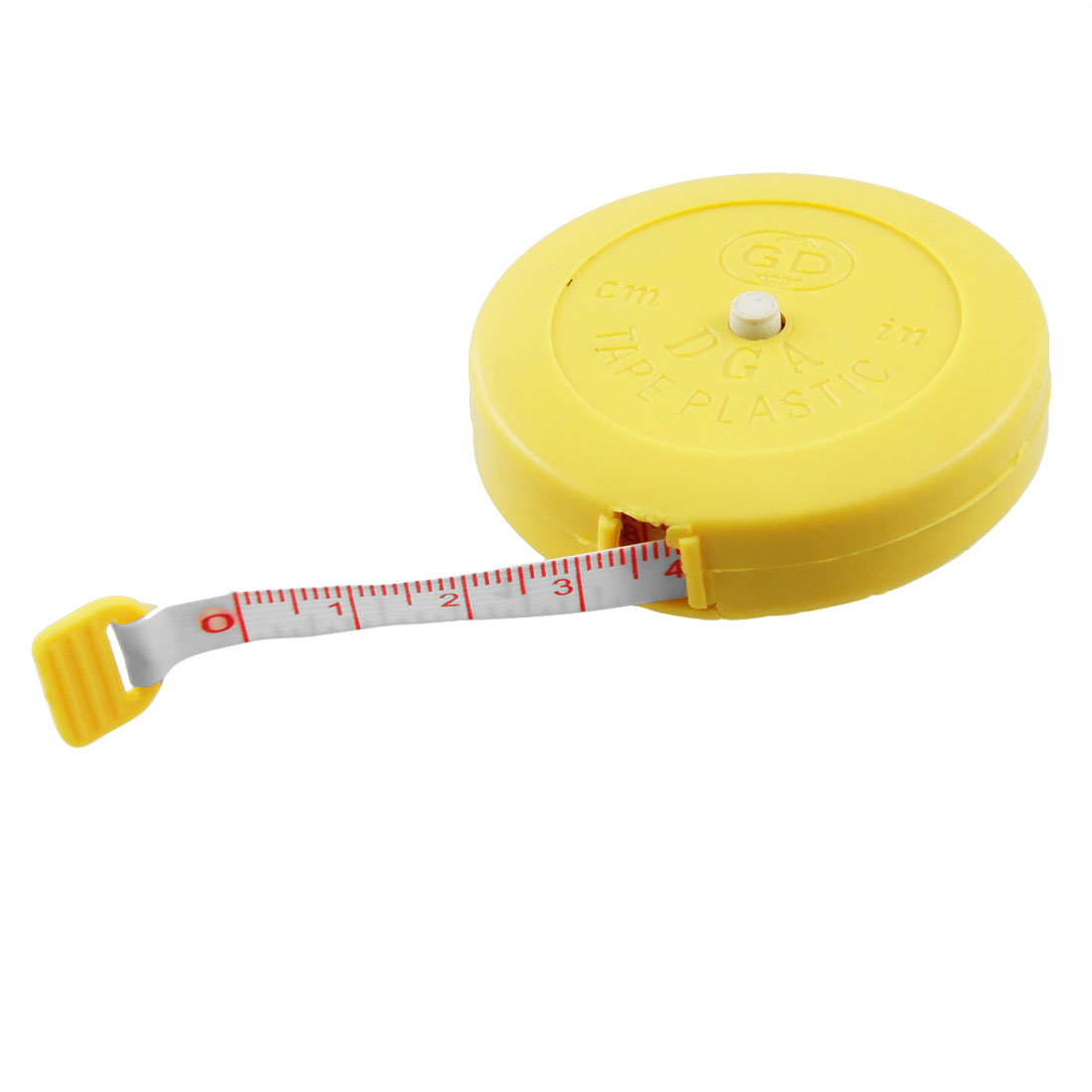 Yellow 1.5M Sewing Tailor Retractable Ruler Tape Measure Tool