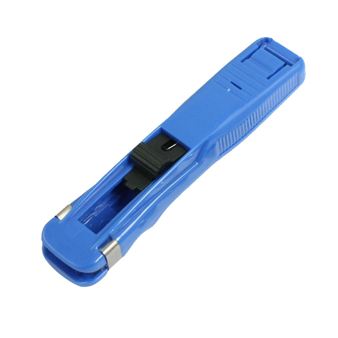 Blue Plastic Paper Fast Clam Clip Stapler Dispenser
