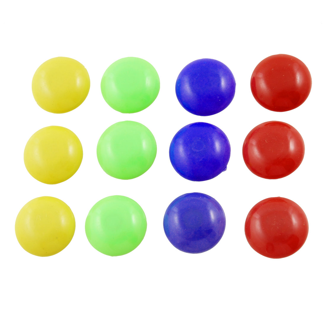 Office Round Button Shaped Whiteboard Magnets 12 Pcs