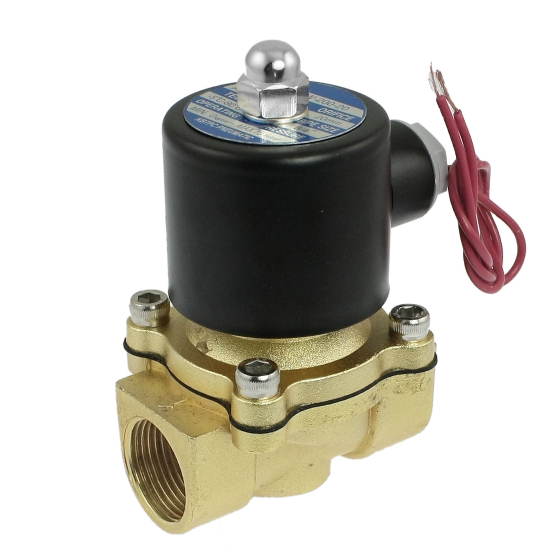 "NC 3/4"" Port 2 Position 2 Way Water Air Oil Electric Solenoid Valve"