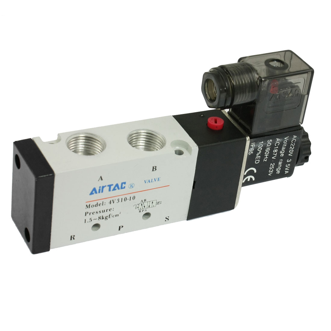 4V310-10 Single Head 2 Position 5 Way Solenoid Valve AC 220V 3.5VA