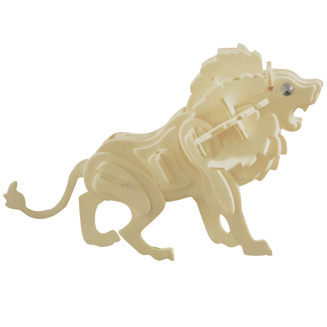Lion Model Woodcraft Wooden Construction Kit Intelligence Toy