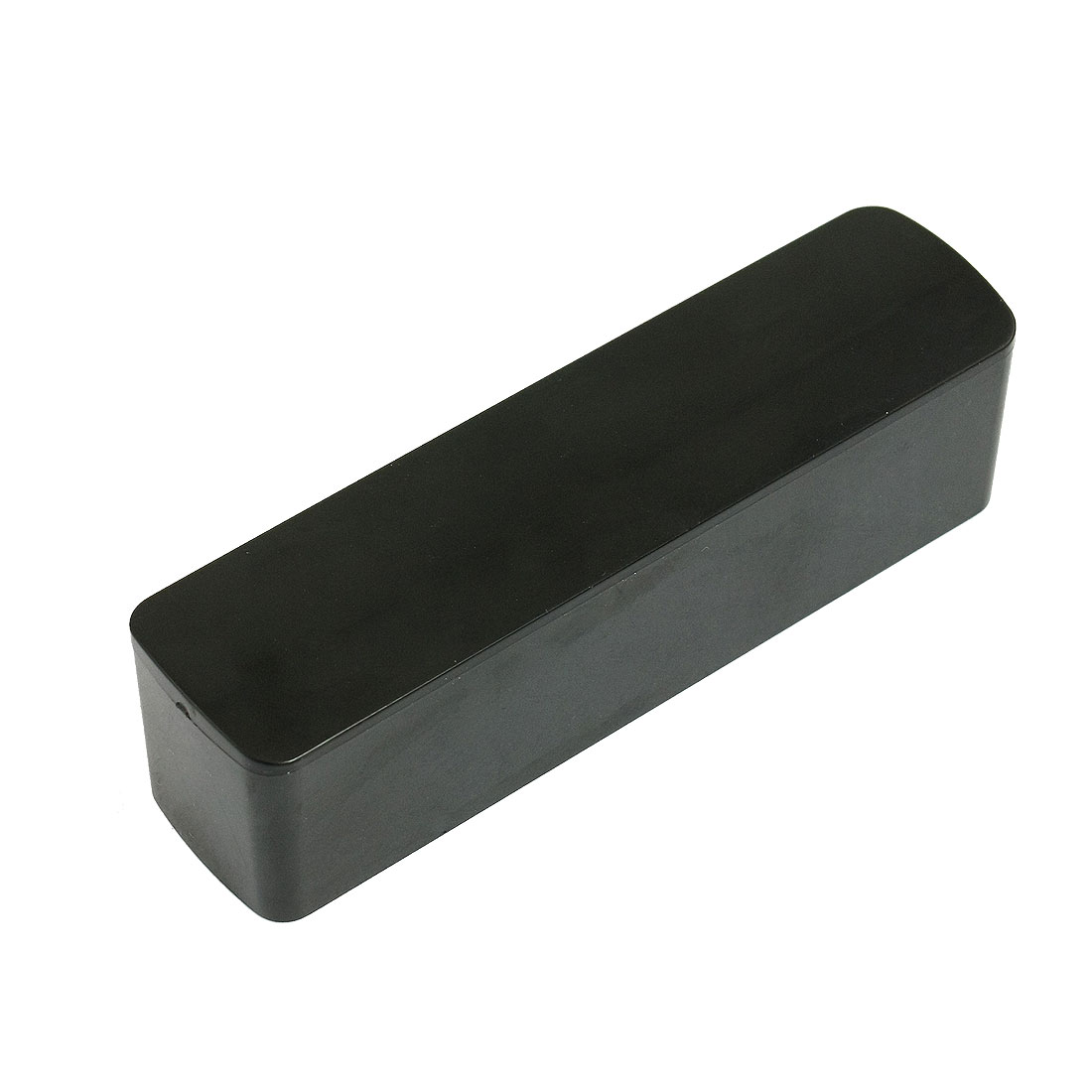 Black Rectangular Shape Plastic Stamp Stamper Box Storage Case
