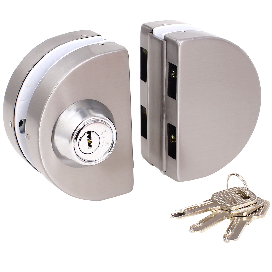Entry Gate 10-12mm Glass Swing Push Sliding Door Lock w Keys