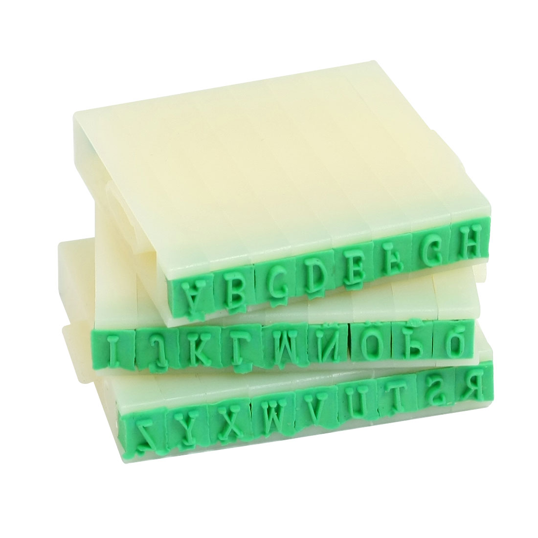 "0.12"" x 0.15"" Detachable Plastic Rubber English Letters Alphabet Stamp Set"