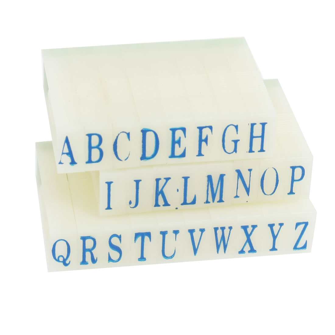 "0.3"" Long 0.2"" Width A-Z Letters Beige Plastic Detachable Alphabet Stamp Set"