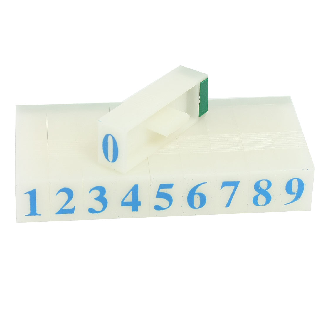 "0.3"" x 0.4"" Plastic 10 Digits Arabic Numerals Combination Stamp Block Set"