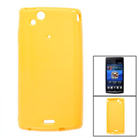 Yellow Soft Plastic Shell Case for Sony Ericsson X12