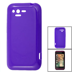 Purple Soft Plastic Case Cover Skin for HTC Rhyme G20 S510b