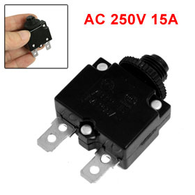 AC 250V 15A Thermal Overload Protection Device Black for Electric Cooker