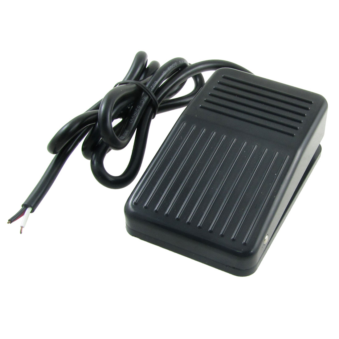 AC 250V 10A SPDT NO NC Antislip Plastic Momentary CNC Power Foot Pedal Switch Black
