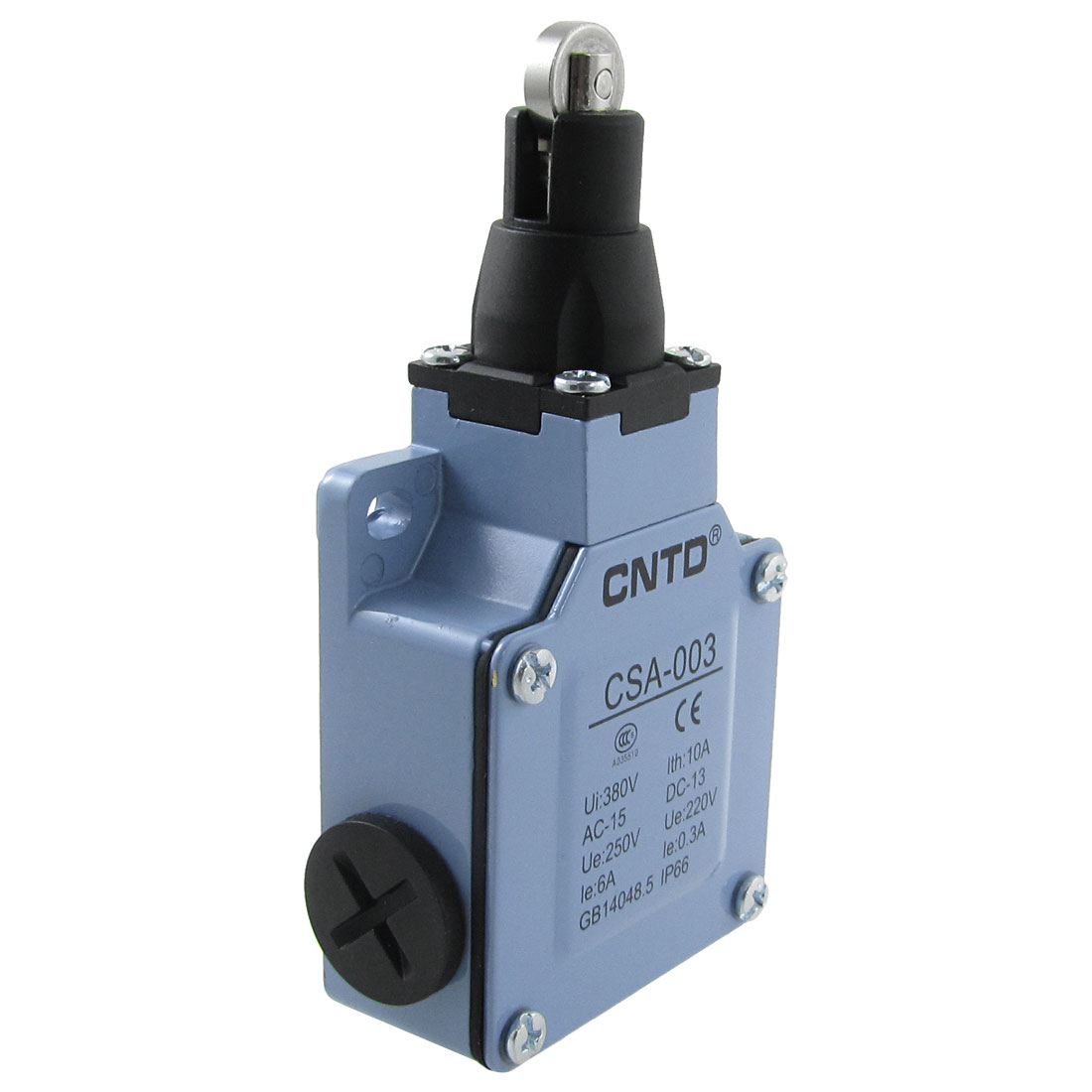 CSA-003 Parallel Roller Plunger Actuator Limit Switch 6A/250VAC 0.3A/220VDC