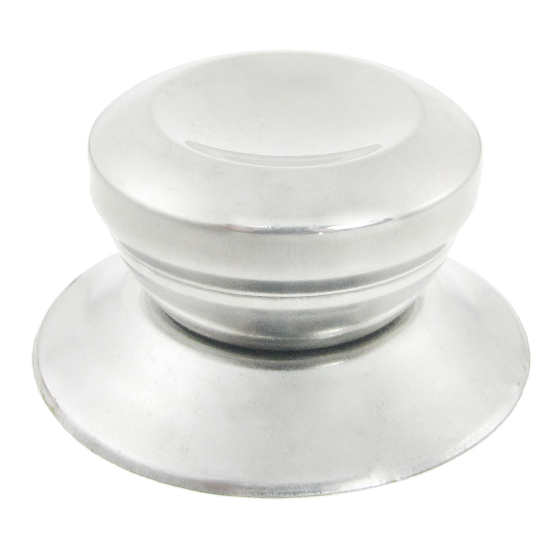 Silver Tone 4.6mm Screw Cookware Pot Pan Lid Round Knob 3 Pcs