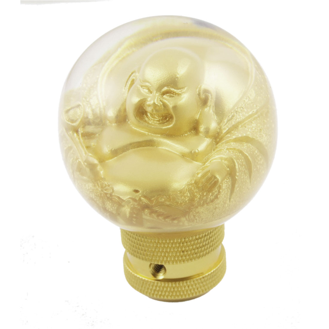 Gold Tone Chinese Buddha Designed Gear Shift Knob for Auto Car