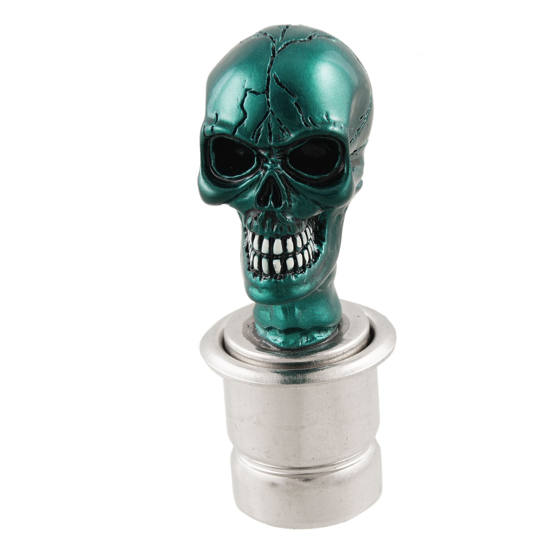 Teal Green Skull Head Shape Universal 12V Car Cigarette Lighter
