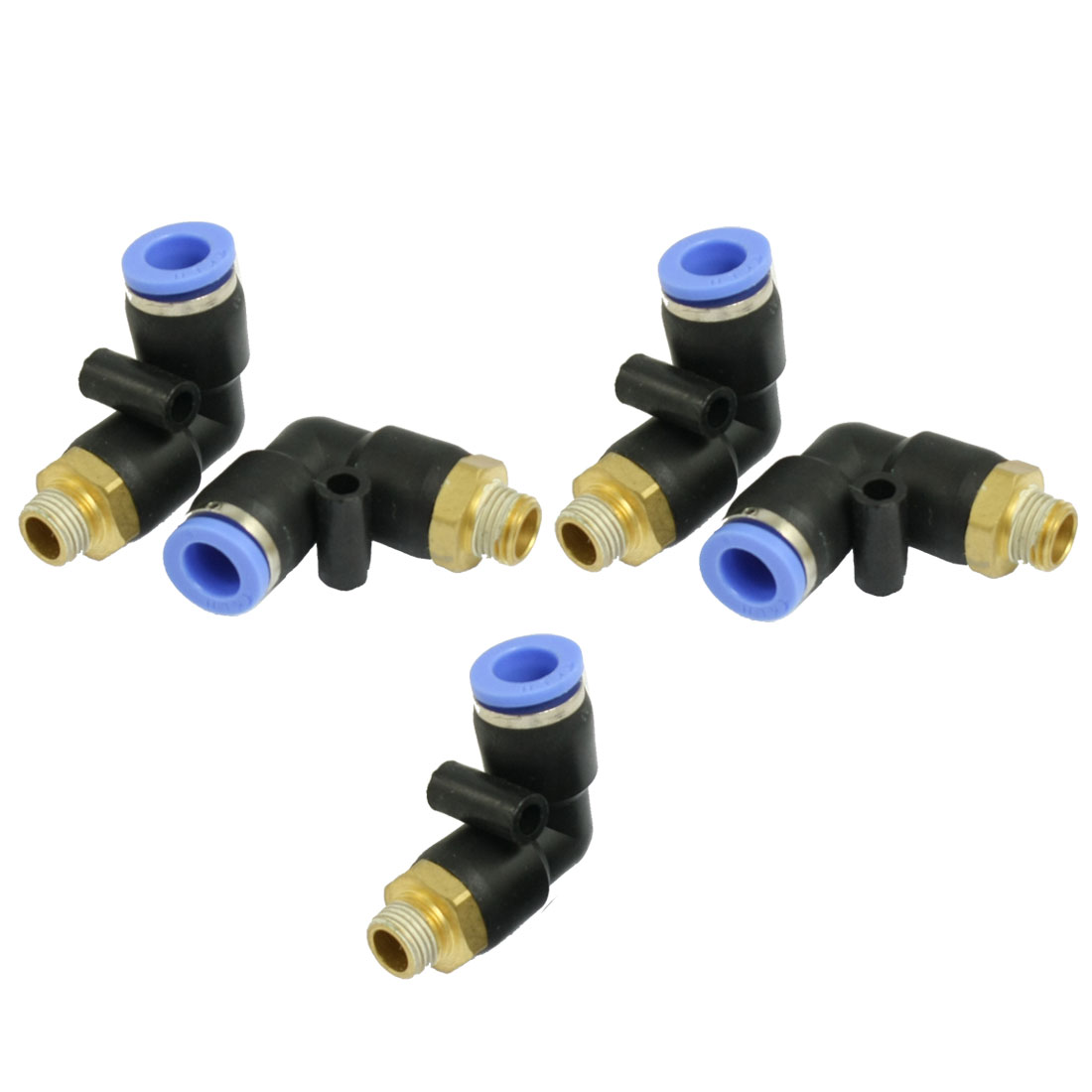 "5 Pcs 1/8"" PT Thread to 8mm Push In Fitting Quick Connector"