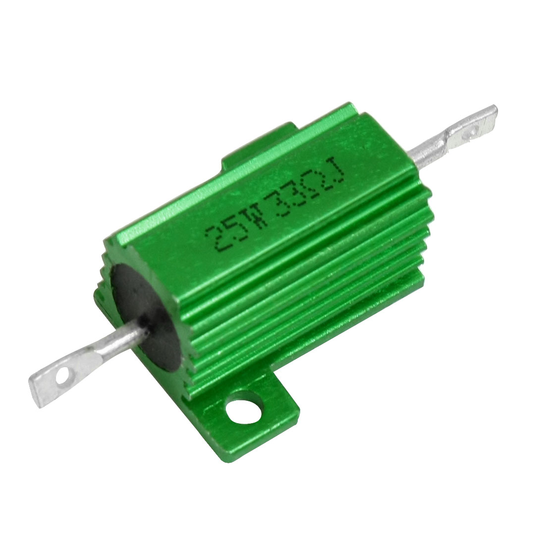 25W 33 Ohm 5% Chassis Mount Wirewound Aluminum Housed Power Resistor Green