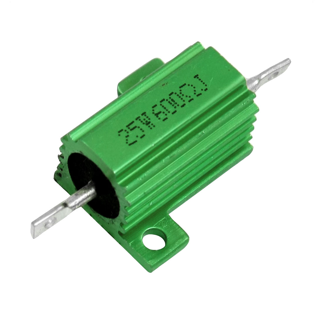 5% 600 Ohm 25 Watt Green Aluminum Housed Clad Wirewound Resistor