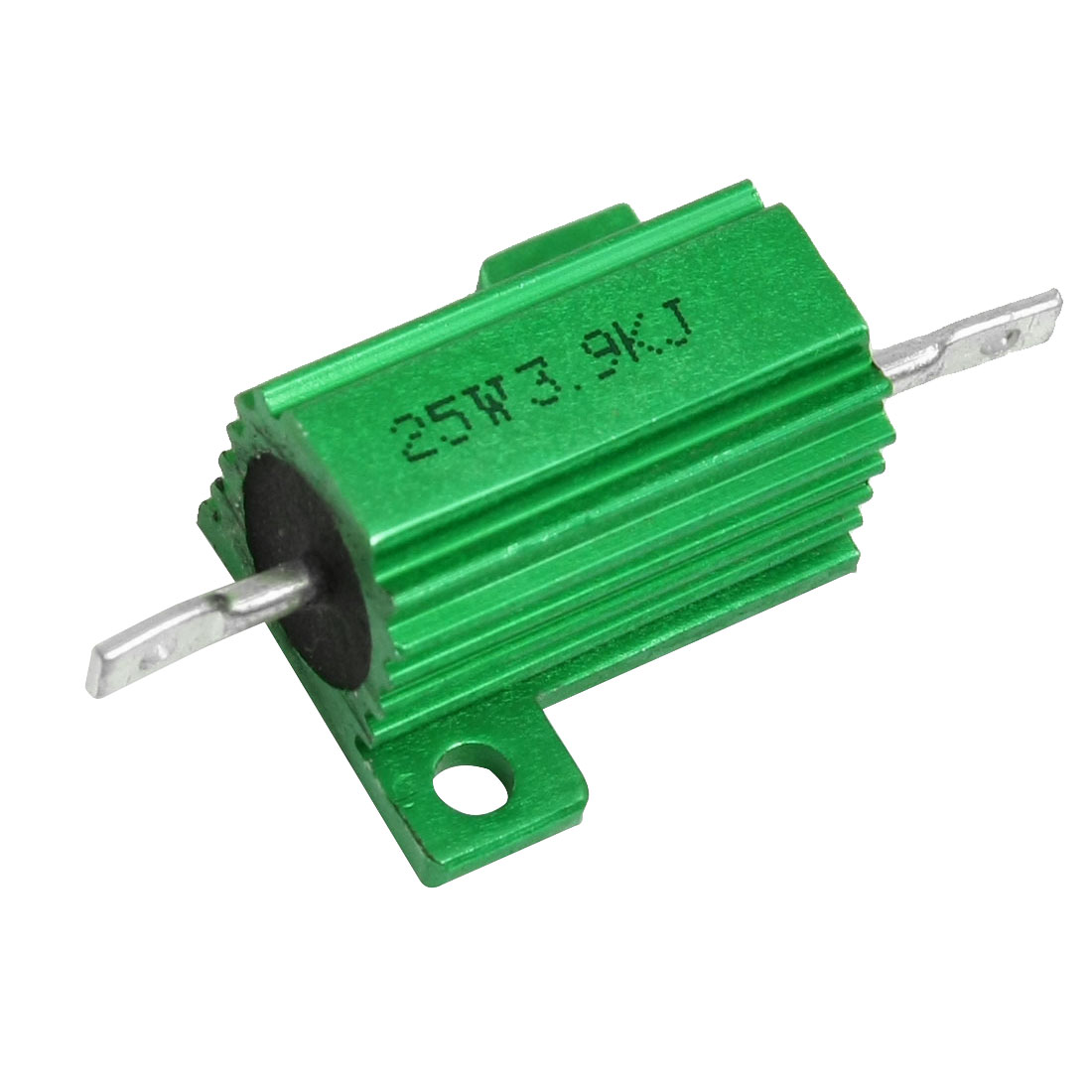 Green Aluminum Housed Clad Wirewound Resistor 5% 3.9K Ohm 25 Watt