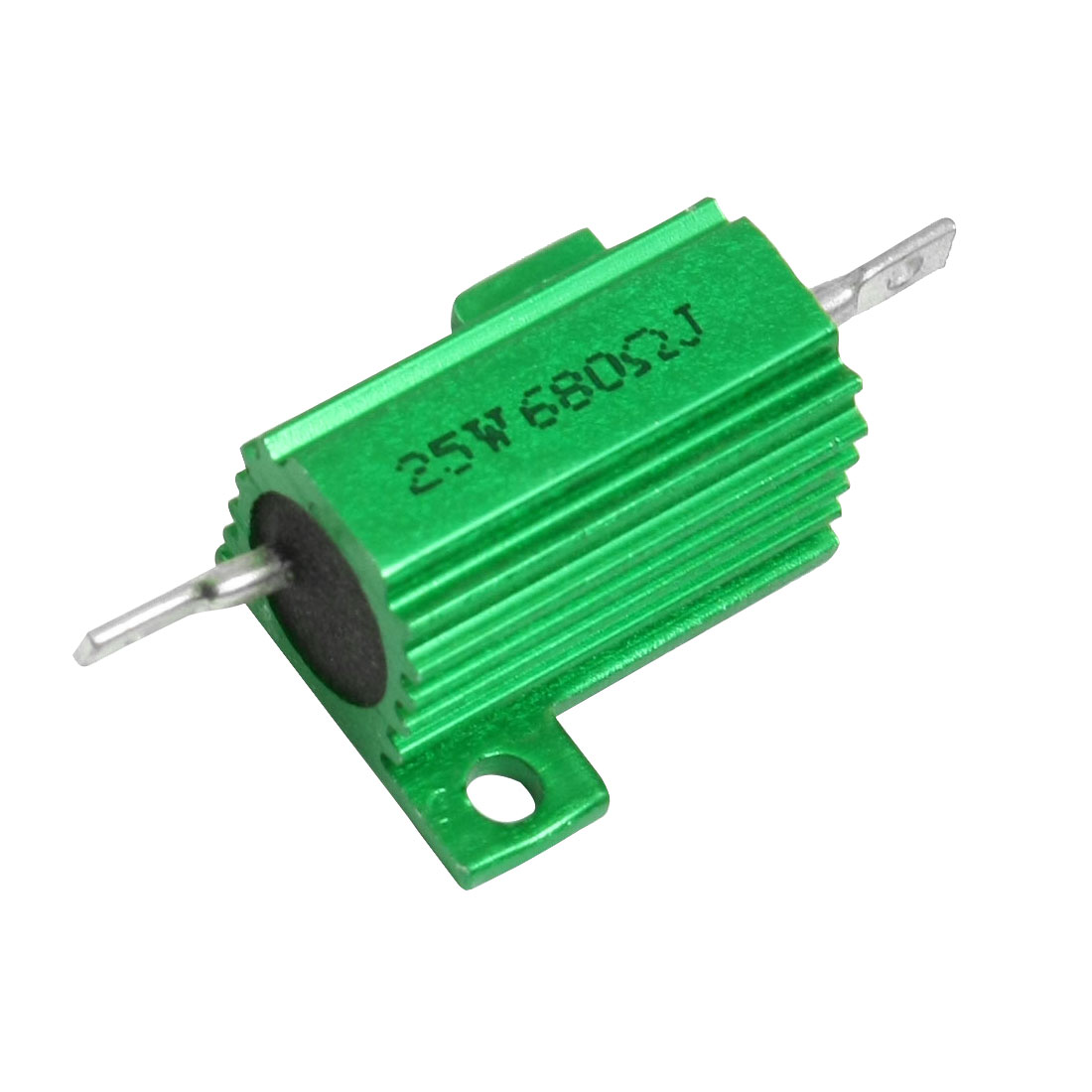 25W Power 680 Ohm 5% Chassis Mount Green Aluminium Clad Resistor