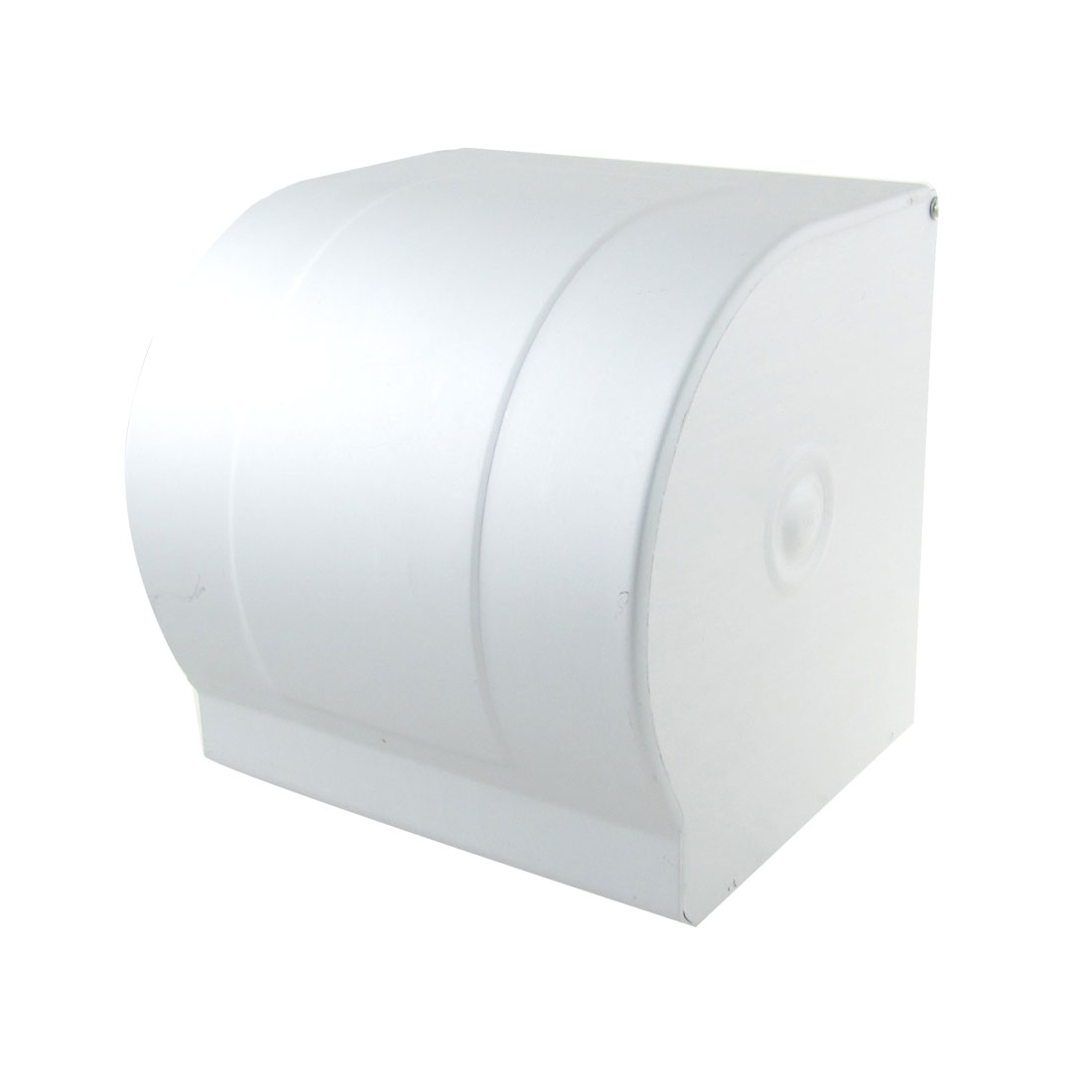 Sliver Tone Stainless Steel Plastic Scroll Toilet Paper Tissue Holder Box Cover