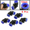 5 Pcs 12mm Quick Connector Elbow Pneumatic Push In Fittings