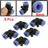 5 Pcs 6mm to 6mm L Shaped Pneumatic Push in Elbow Fittings