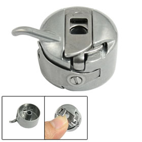 Round Shape Flint Gray Metal Bobbin Case for Sewing Machine