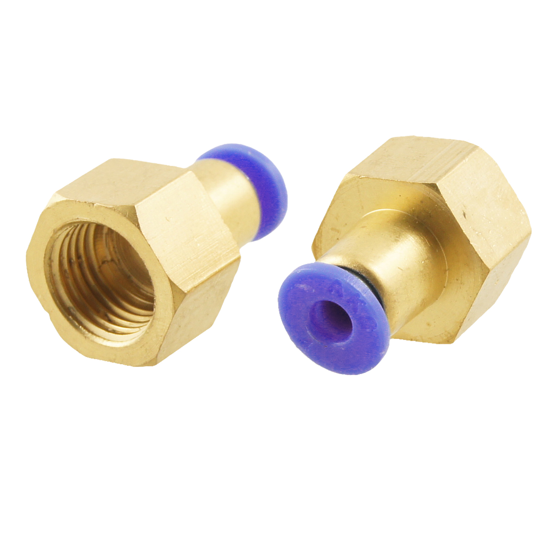 2 Pcs Pneumatic Fitting Female Thread Full Port 11.6mm x 4mm Quick Connectors