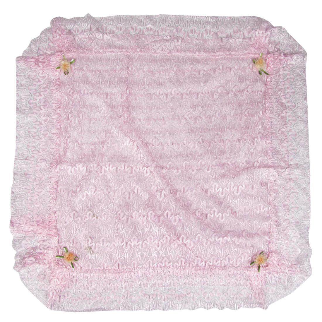 Flower Accent Pink Lace Overlay Indoor Air Conditioner Dirt Protective Cover