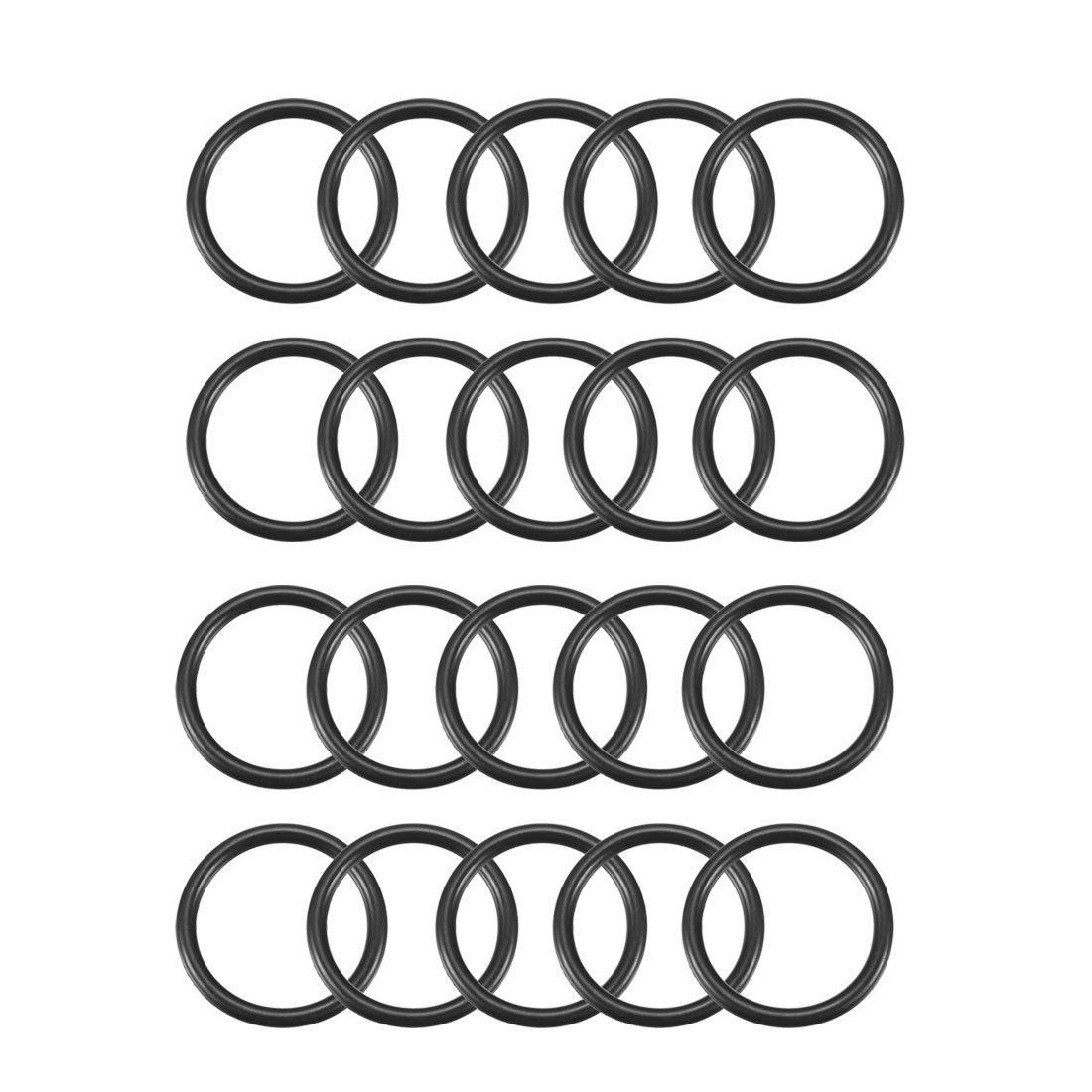 20 Pcs Industrial Flexible Rubber O Ring Seal Gasket 29mm x 36mm x 3.5mm