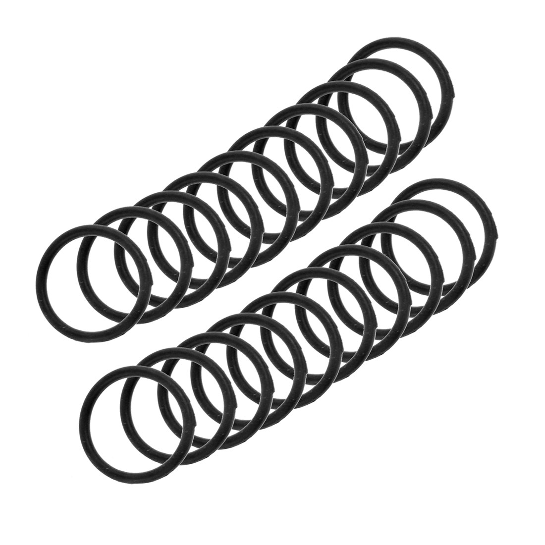 20 Pcs Flexible Rubber O Ring Seal Washer Black 25mm x 2.4mm