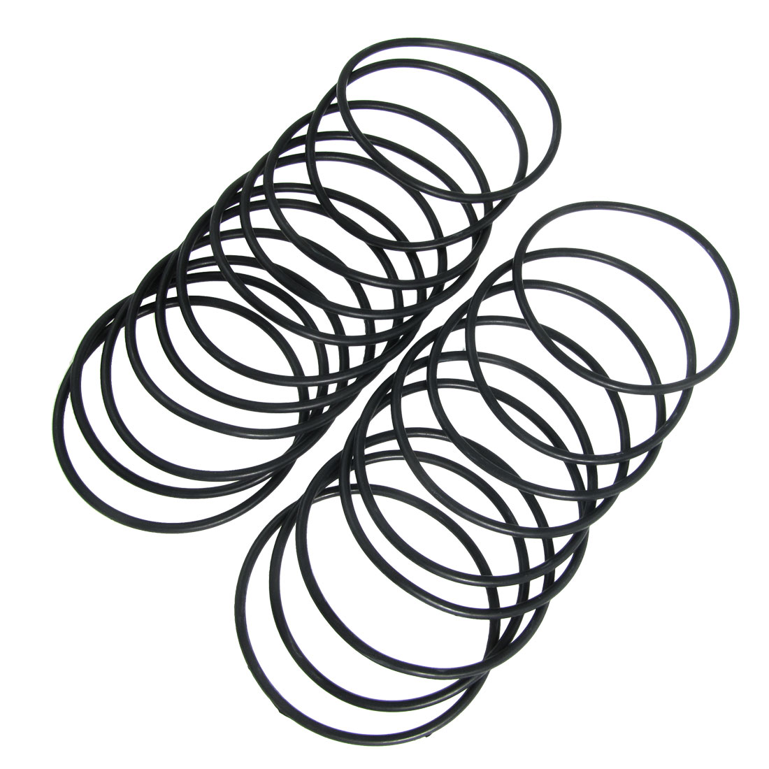 20 Pcs Industrial Flexible Rubber O Ring Seal Gasket 73mm x 80mm x 3.5mm