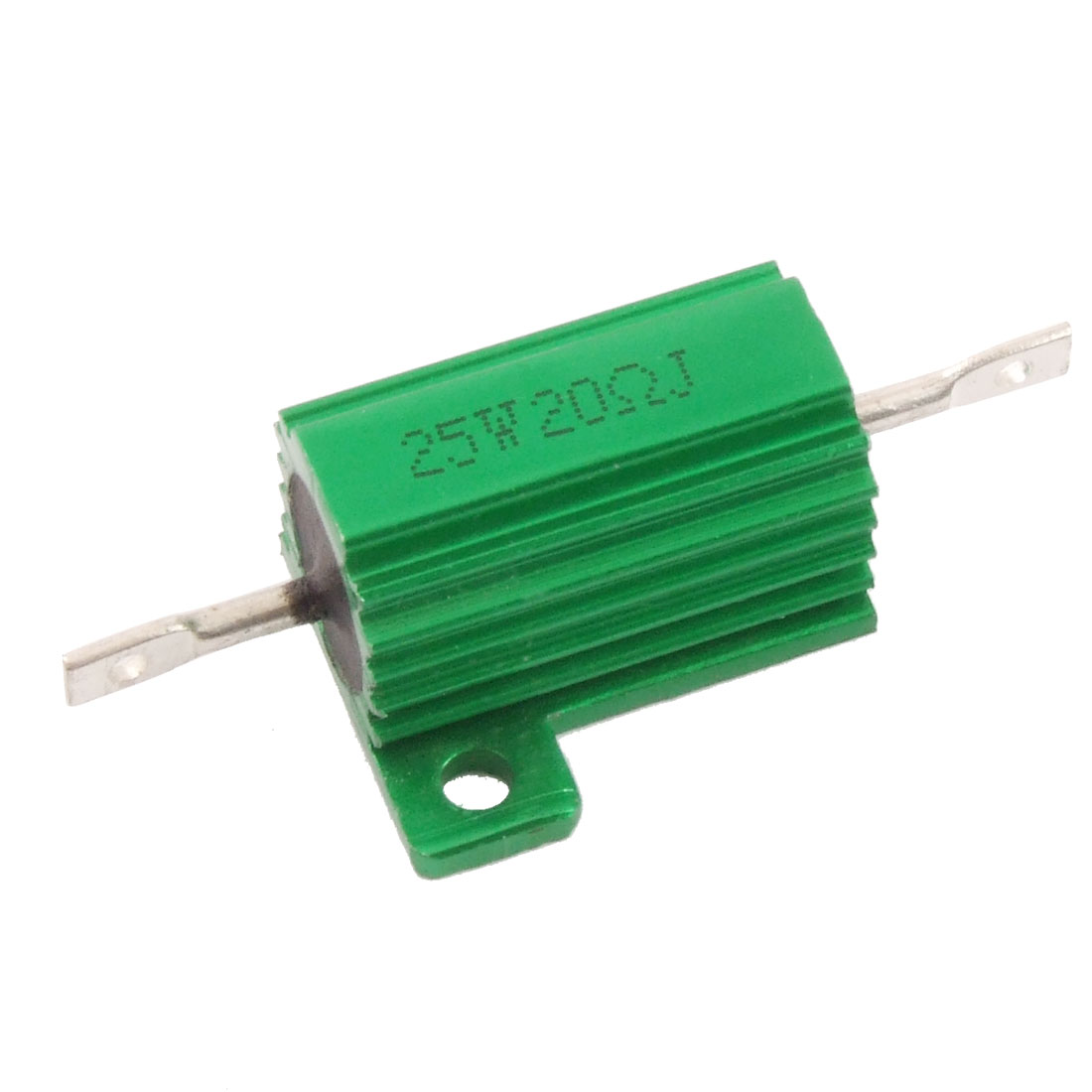 Green 25 Watt 20 Ohm 5% Aluminum Housed Wire Wound Resistor