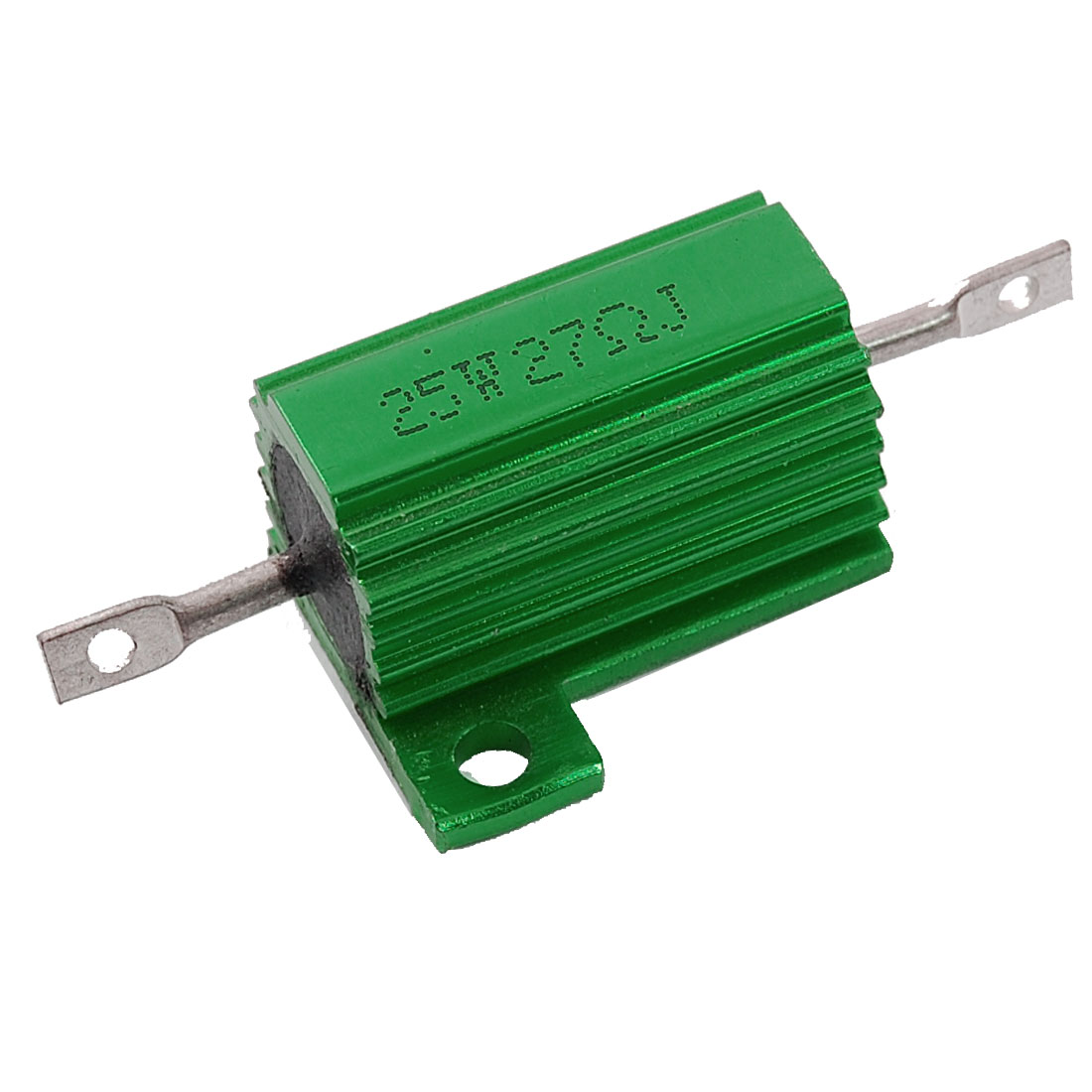 Green 25 Watt 27 Ohm 5% Aluminum Housed Wire Wound Resistor