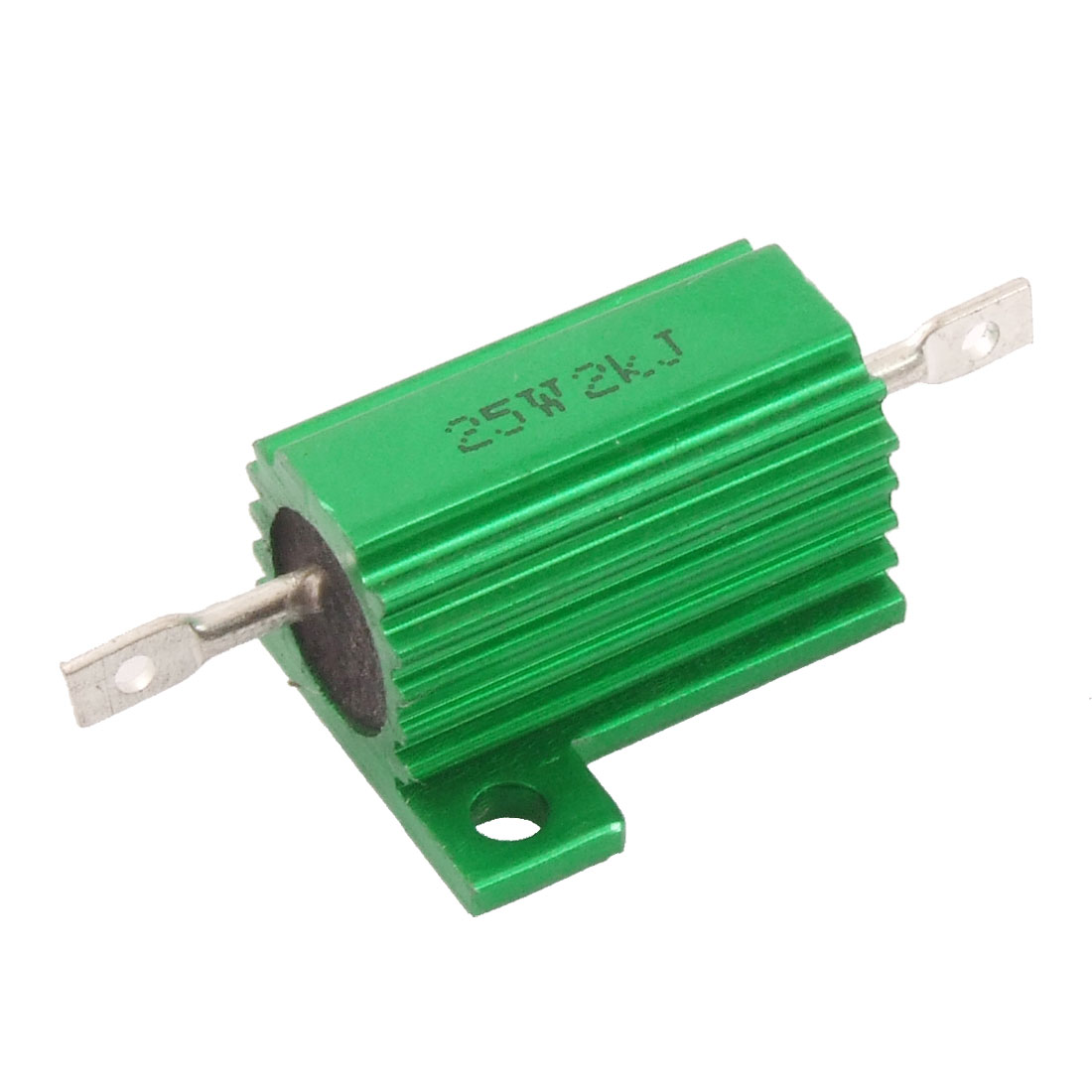 25W 2K Ohm Screw Tap Mounted Aluminum Clad Wirewound Resistor