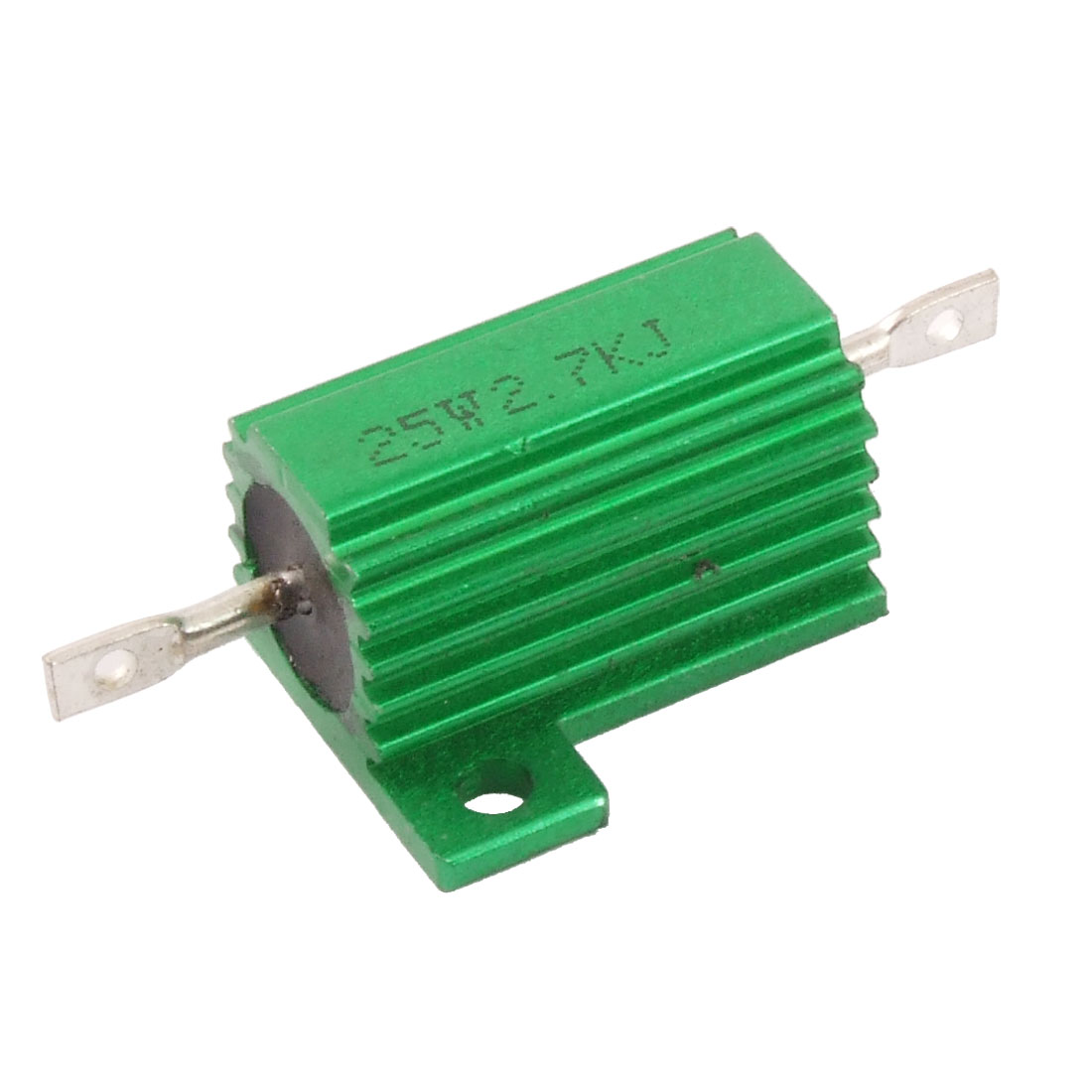 Green 25 Watt 2.7K Ohm 5% Aluminum Shell Wire Wound Resistor