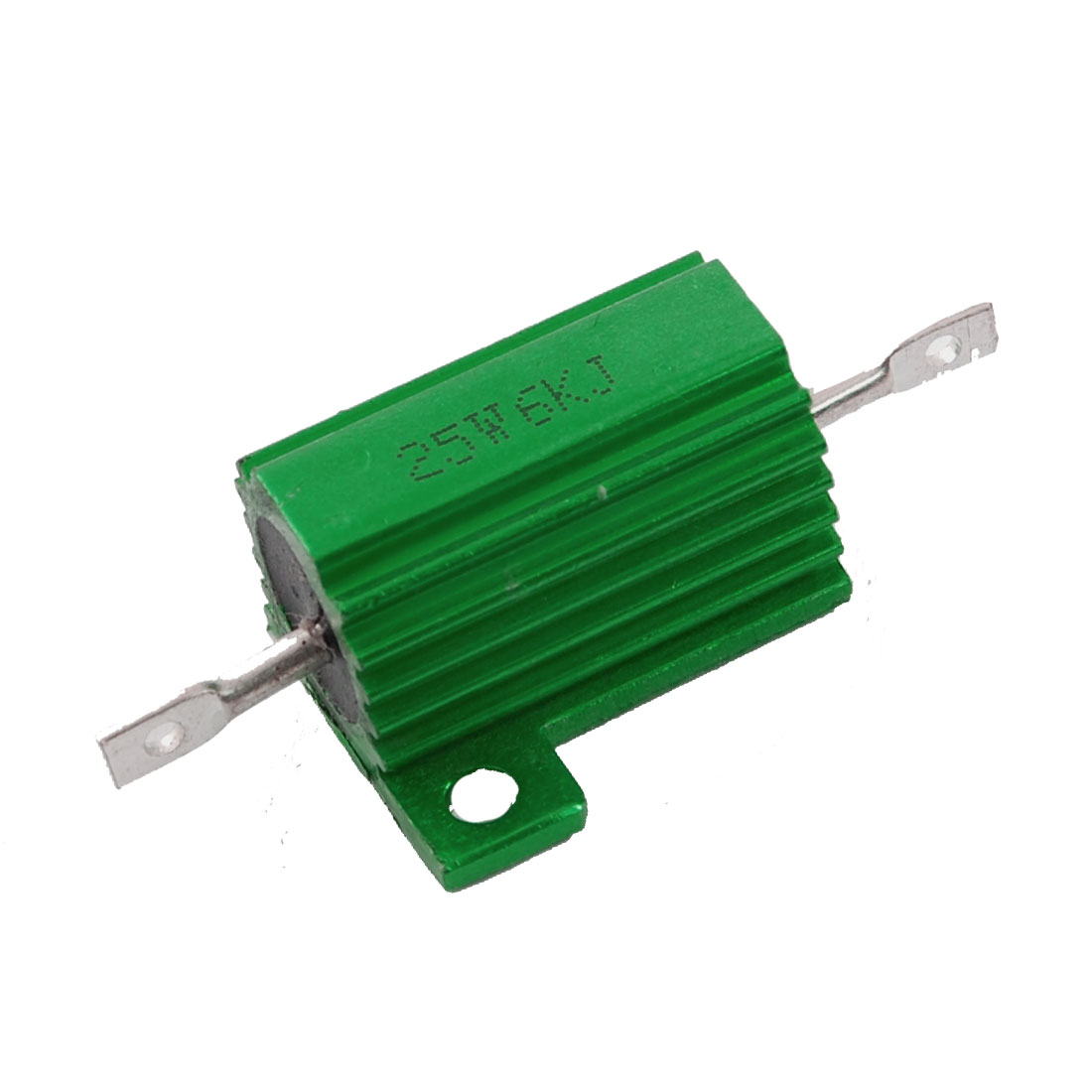6K Ohm Screw Tap Mounted Aluminum Housed Wirewound Resistor 25W