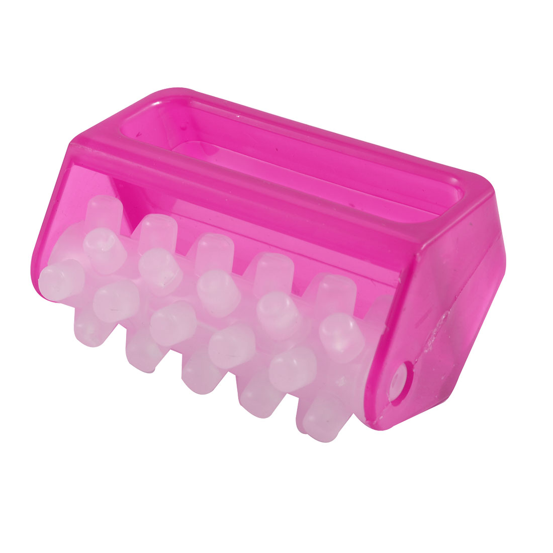 Fuchsia Plastic 40 Pellets Body Roller Massager