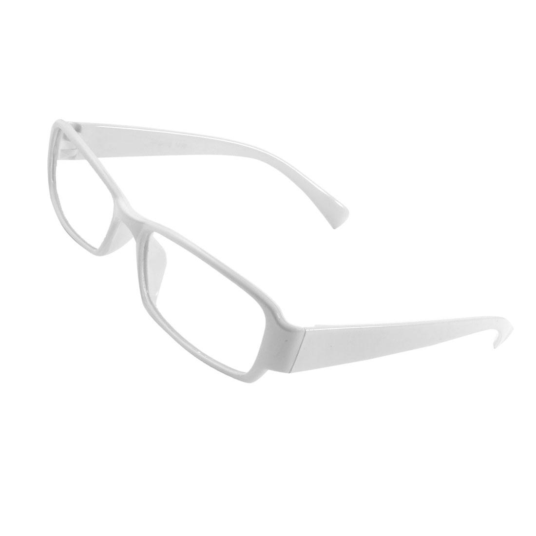 Unisex Full Frame Single Bridge Clear Lens Plano Glasses White