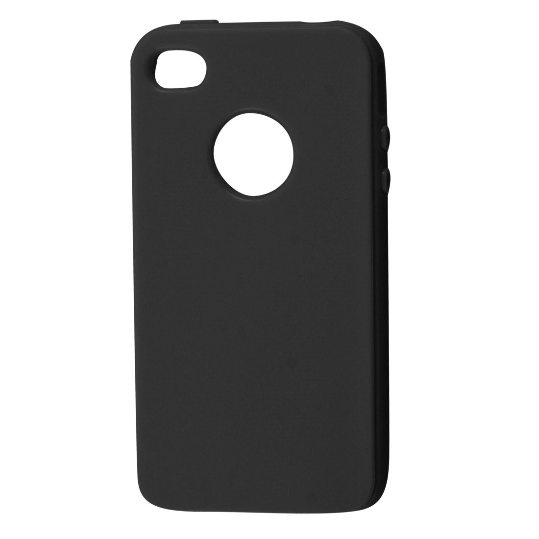 Soft Plastic Case Shell Black for Apple iPhone 4 4G 4GS 4S