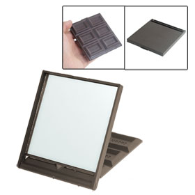 Chocolate Color Plastic Cover Foldable Makeup Mirror for Ladies