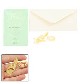 Gold Tone Rose Shape Bookmark Paper Holder for Readers