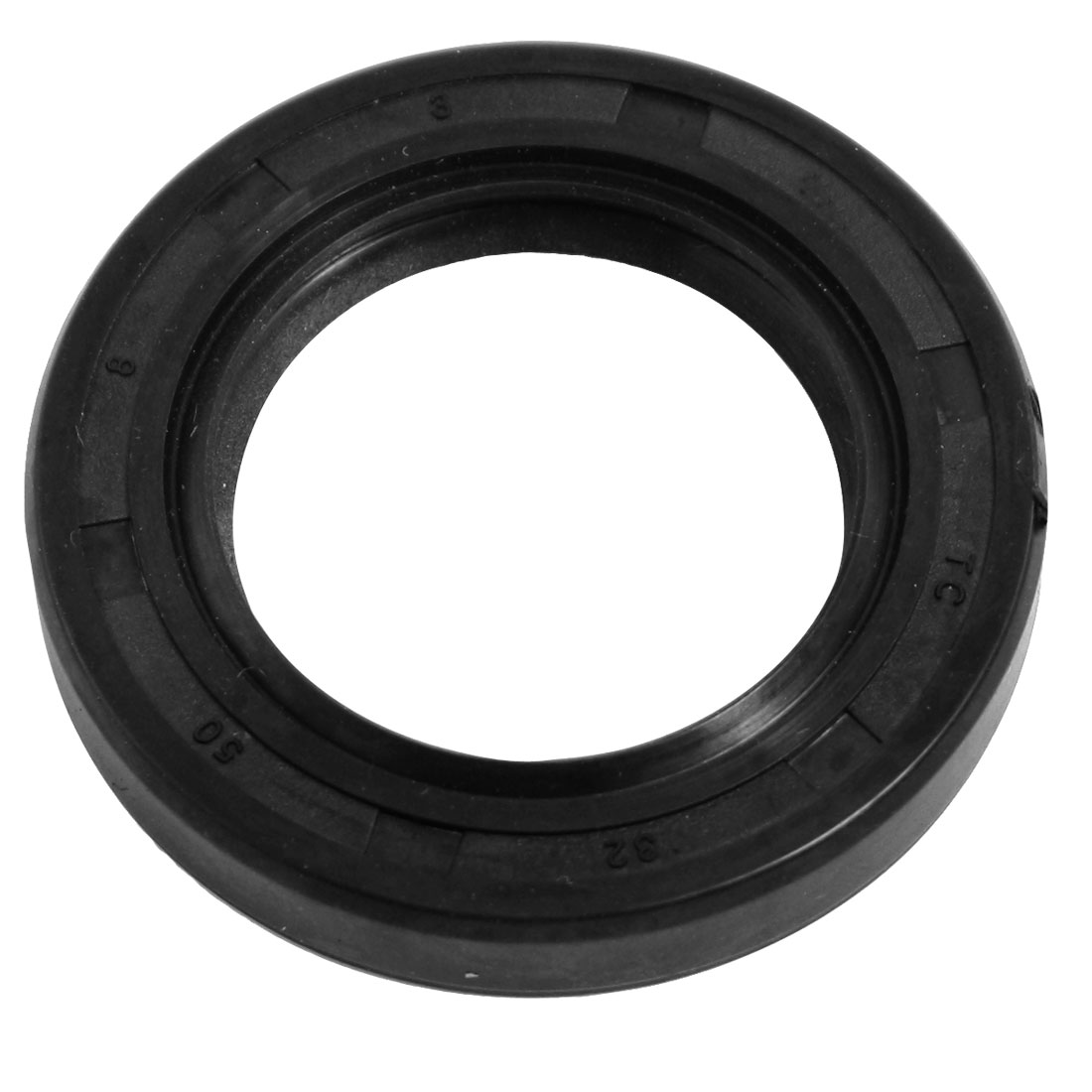 32mm x 50mm x 8mm Black Nitrile Rubber Double Lip TC Oil Seal