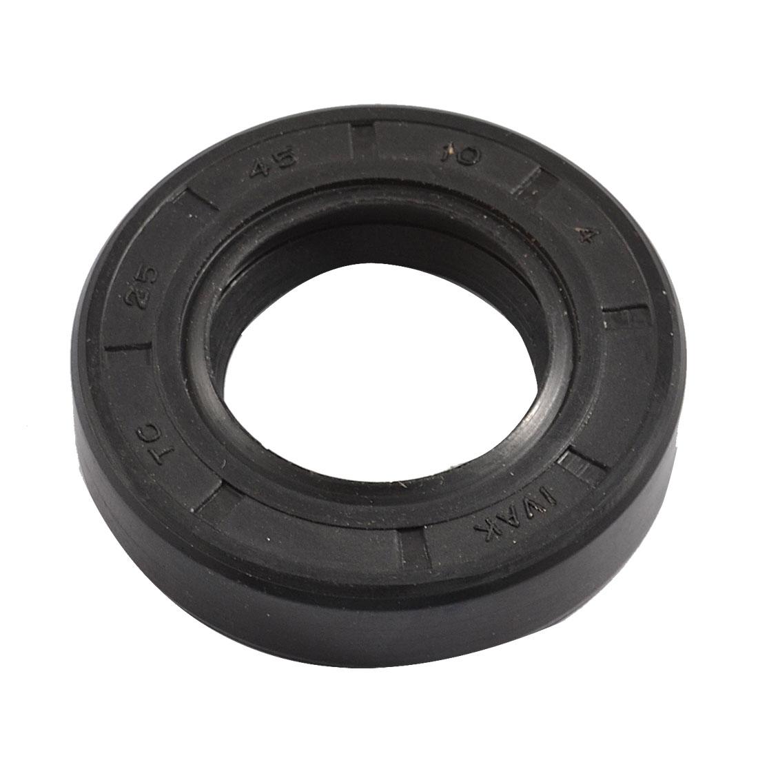 NBR TC 25mm x 45mm x 10mm Metal Spring Double Lip Oil Shaft Seal