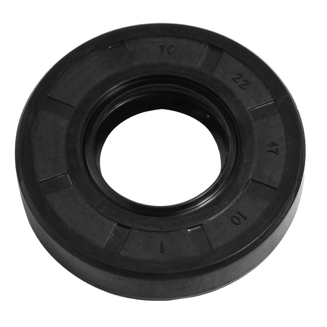 22mm x 47mm x 10mm Steel Spring NBR Double Lip TC Oil Shaft Seal
