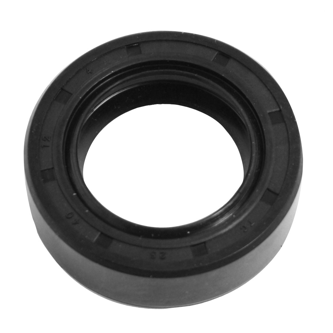 Black Nitrile Rubber Double Lip TC Oil Shaft Seal 25mm x 40mm x 12mm