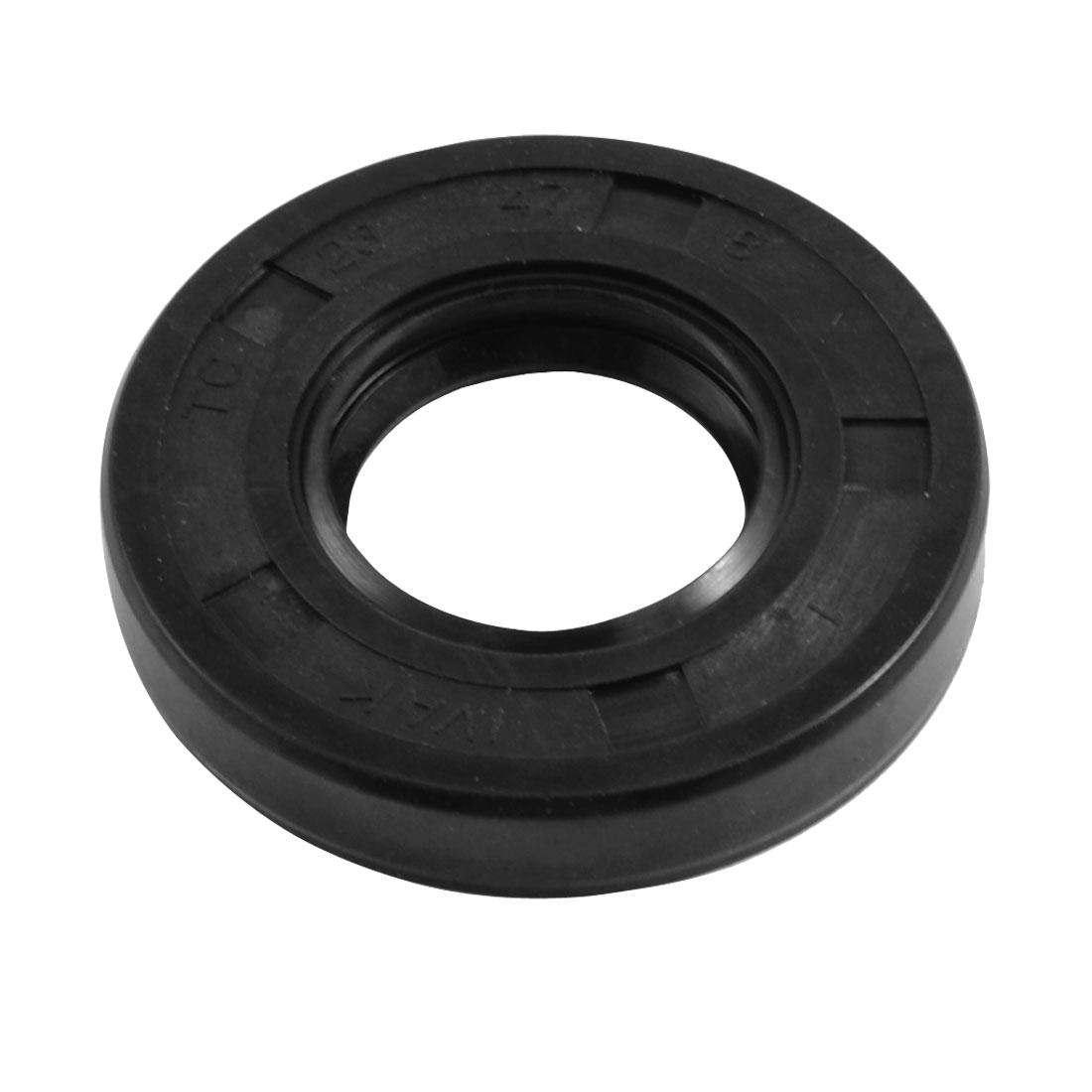 23mm x 47mm x 8mm Metric NBR Double Lipped Oil Shaft Seal TC