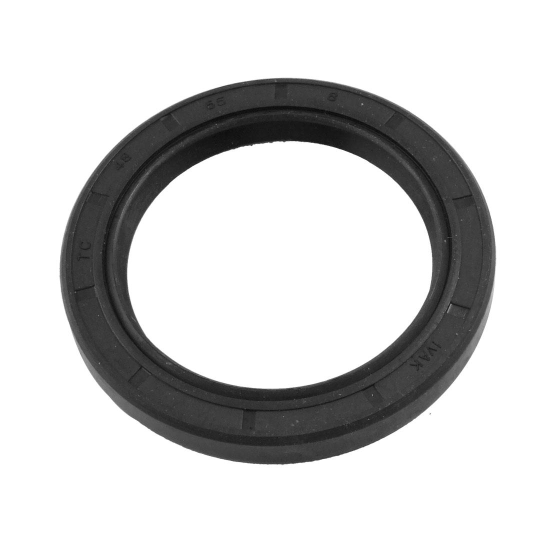 48mm x 65mm x 8mm Metric Double Lipped Rotary Shaft Oil Seal TC