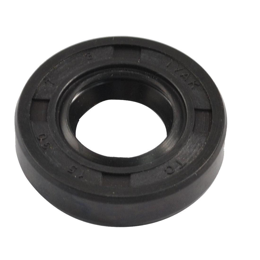 NBR TC 15mm x 30mm x 7mm Metal Spring Double Lip Oil Shaft Seal